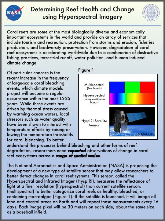 NASA reef health document