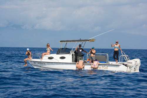 private boat charter at Aloha Kai